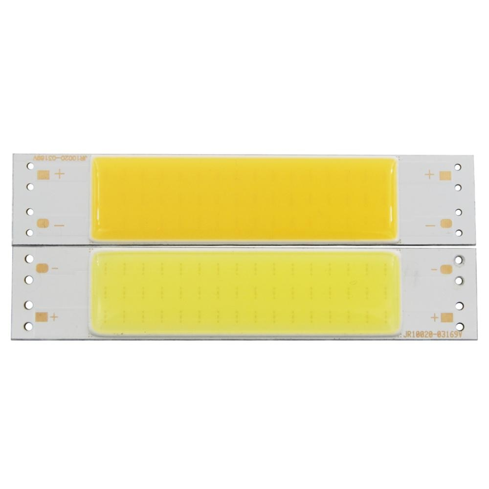 3W LED COB Light Bar Module Warm White/ White DC 9V 100*20mm