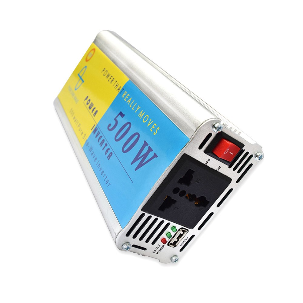 500W DC12V/24V to AC220V/110V Car Cigarette Lighter Inverter