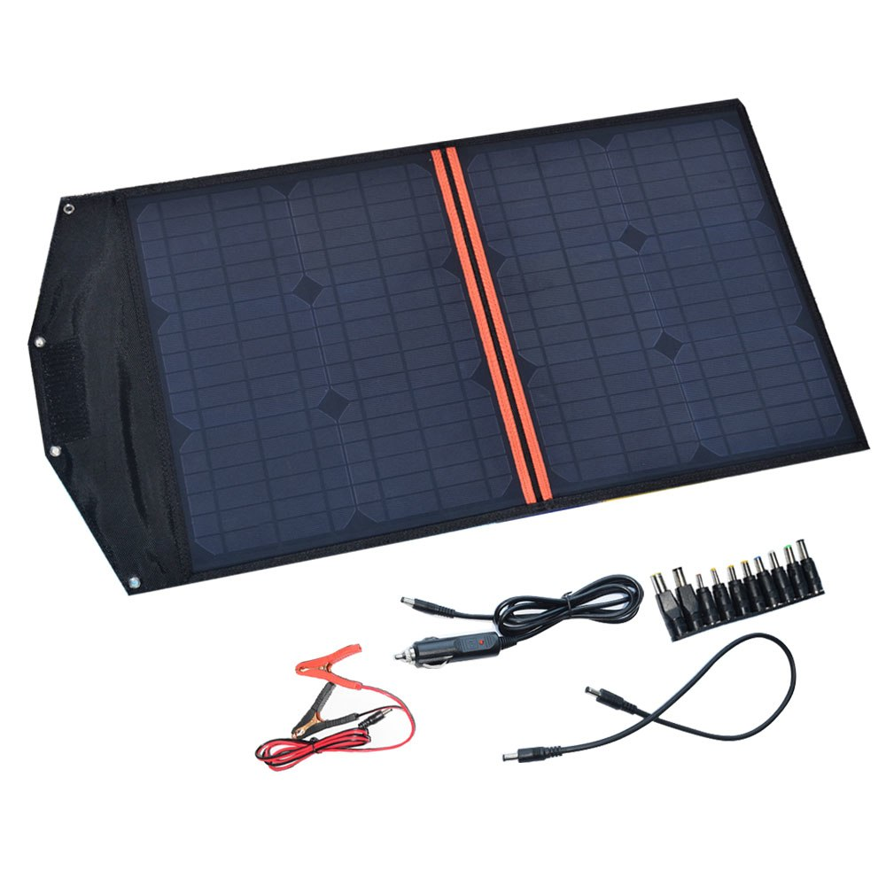 40W 18V Monocrystalline Folding Solar Panel Battery Charger with USB