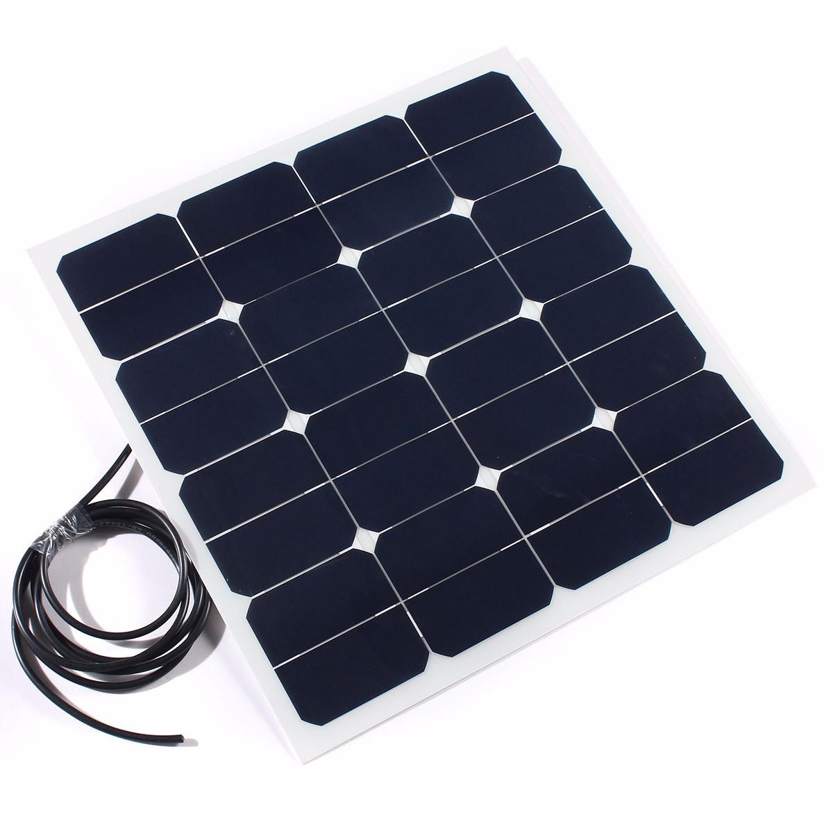 50W 18V Flexible Solar Panel Battery Charger