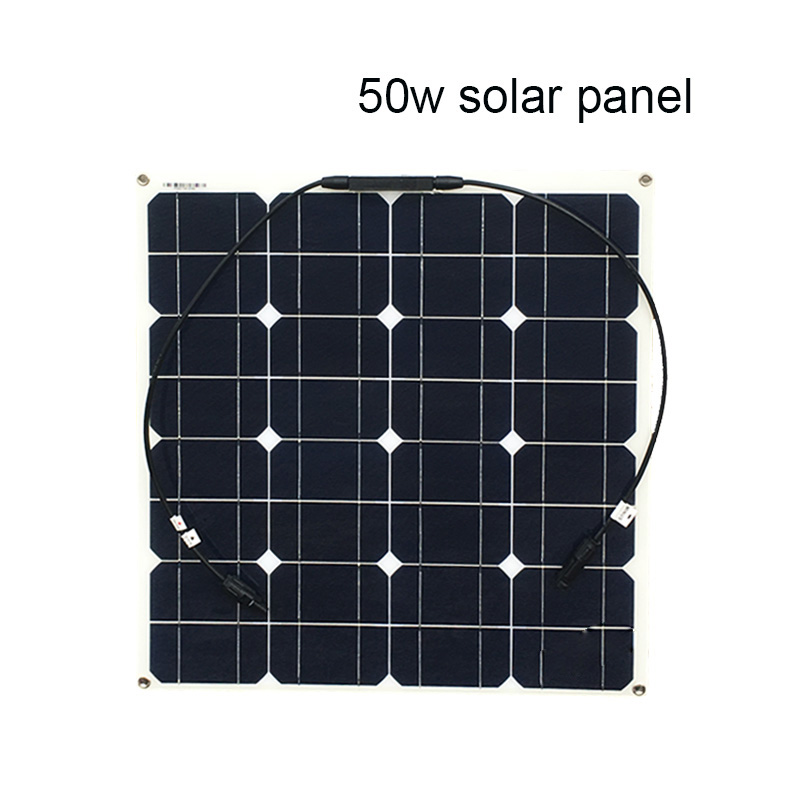 100W Solar System Monocrystalline Solar Panel Y-type Cable Adapter MC4 connector DIY kit