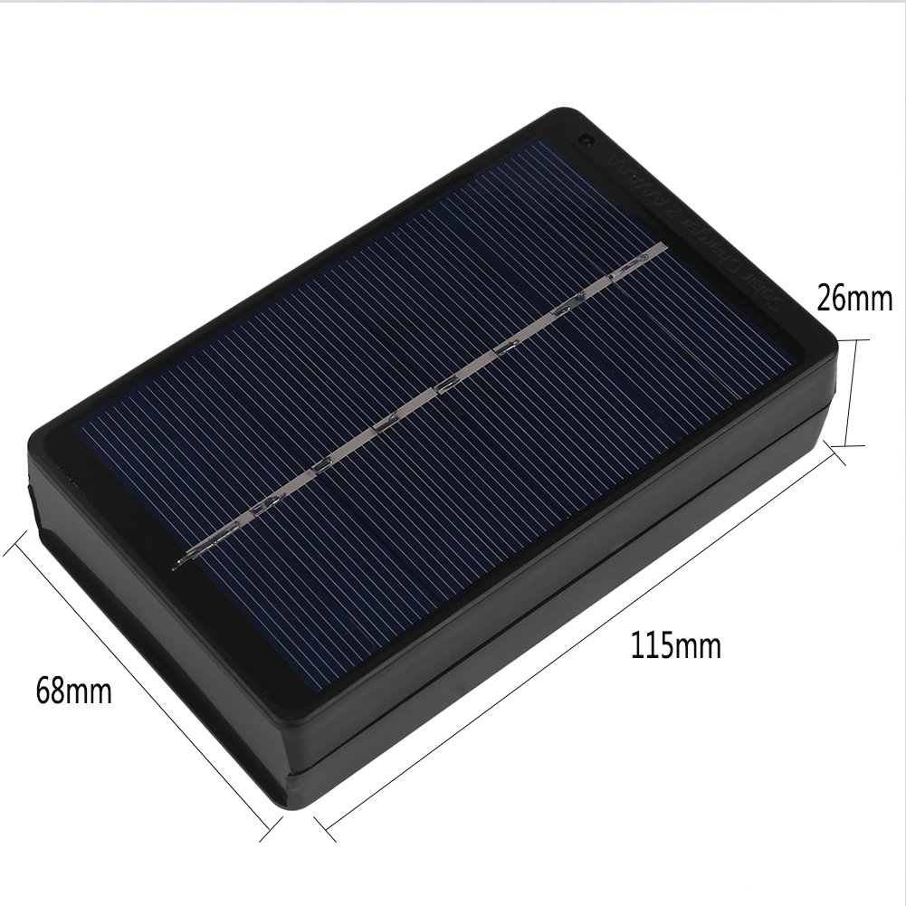 1W 4V Solar Panel Charging Box for 2*AA/AAA Battery Charger