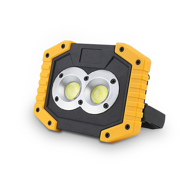 20W Recharge Portable COB LED Floodlight Outdoor Working Light With 18650 Battery
