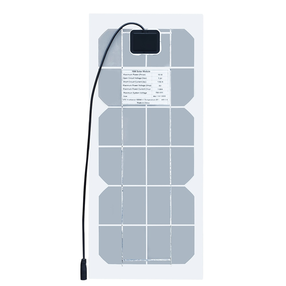 10W 6V Flexible Solar Panel Battery Charger