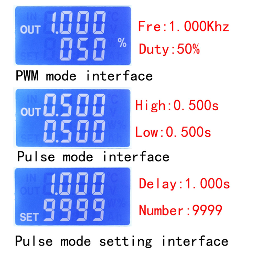 1Hz-150KHz Dual Mode PWM Pulse Frequency Duty Cycle Adjustable Square/Rectangular Wave Signal Generator