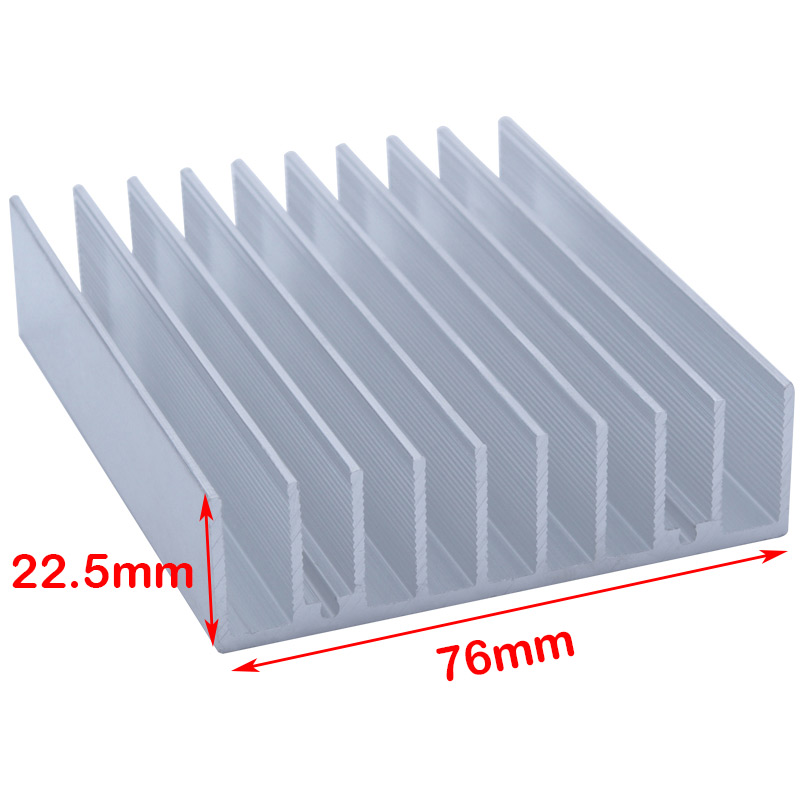 100*76*22.5mm Rectangular Aluminum Heatsink