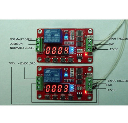 12V Automation Delay Multifunction Self-lock Relay Cycle Timer Module PLC Home