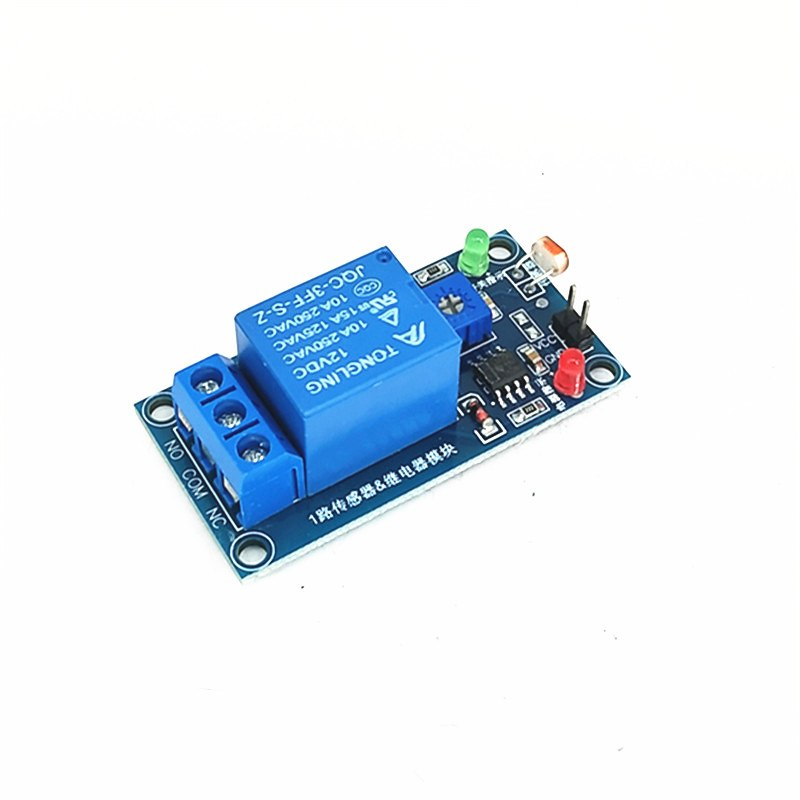 12V Photodiode Relay Module Optical Switch Light Detection Sensor