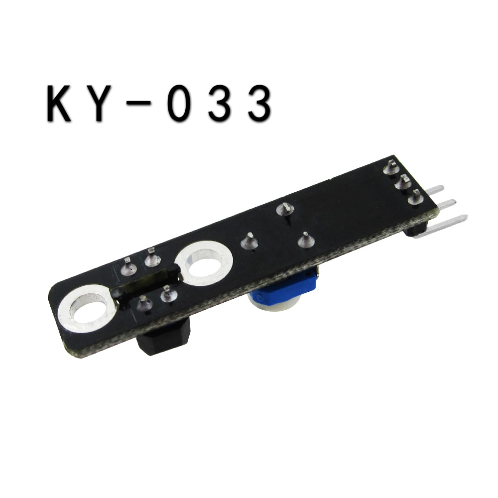 2pcs KY-033 One Channel 3 pin Tracking Path Tracing Module / Intelligent Vehicle Probe Infrared Detection Sensor