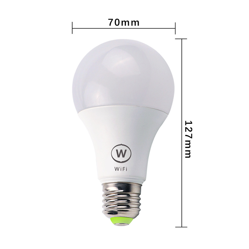 6.5W Wireless WiFi Smart LED Bulb E27 Full Color Bulb