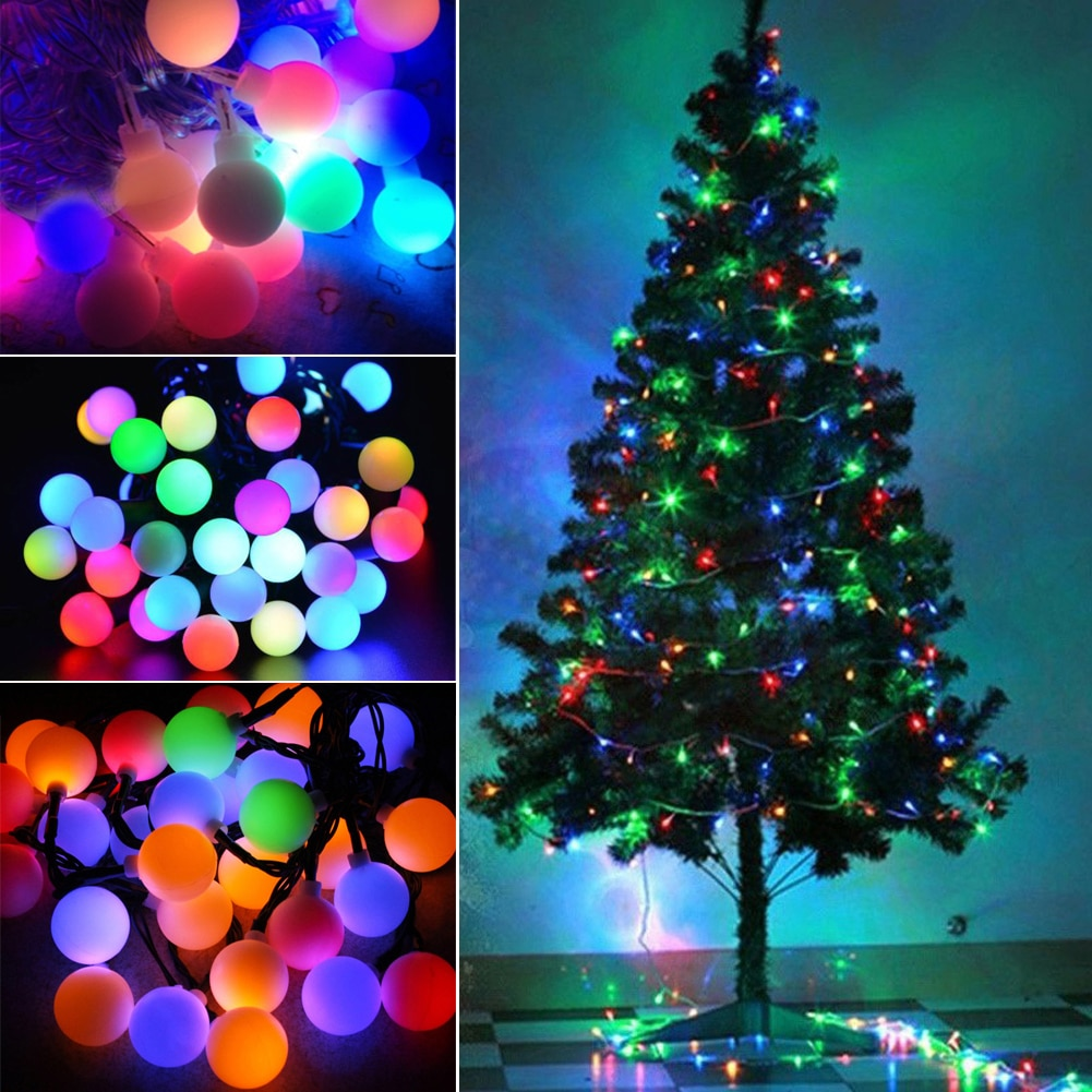 Battery Powered LED Ball Light String Remote Control 5M/10M 8 Modes