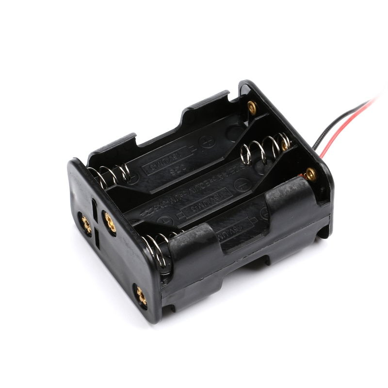Double Side 4/6/8xAA Battery Holder Case Box Black With Wire Lead For AA batteries DIY