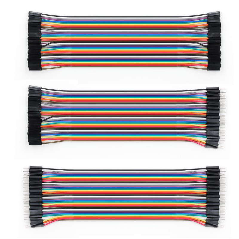 Dupont Line 40P Male to Male + Male to Female and Female to Female Dupont cable for Arduino