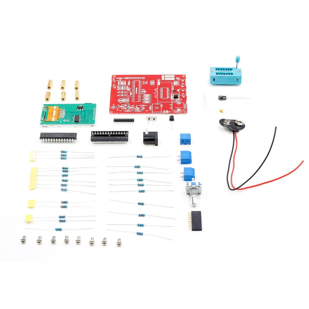 GM328 ESR Voltage Frequency Meter PWM Square Wave Multifunctional Transistor Tester DIY Kit