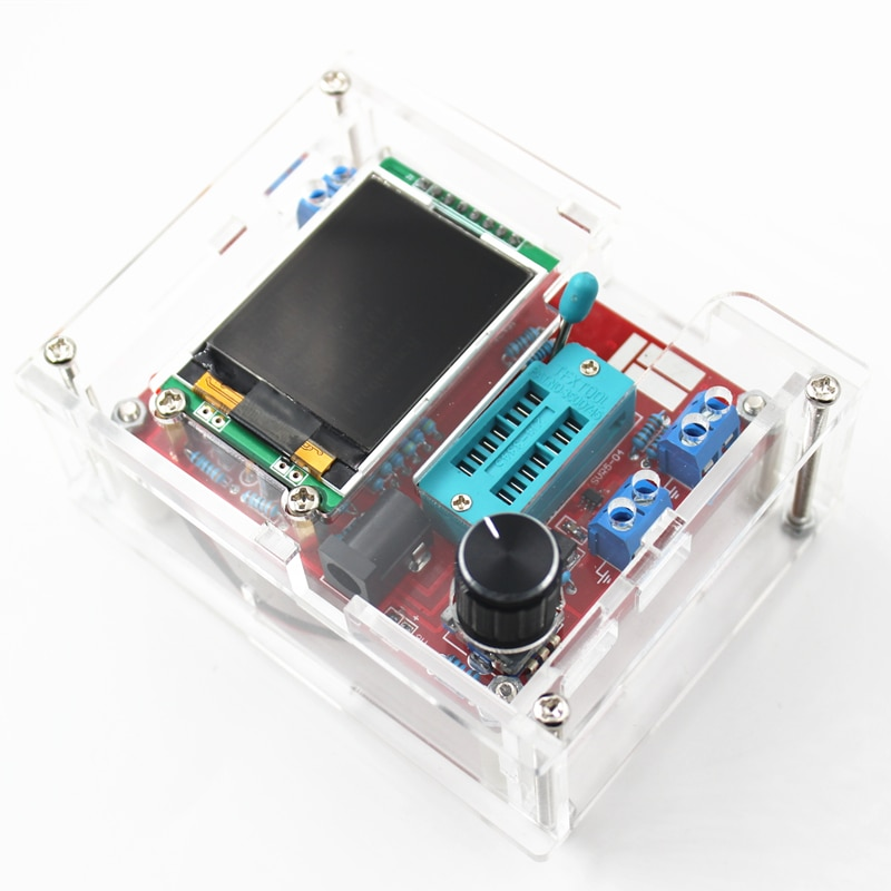 GM328 PWM Square Wave Signal Generator Transistor Multifunctional Tester with Case