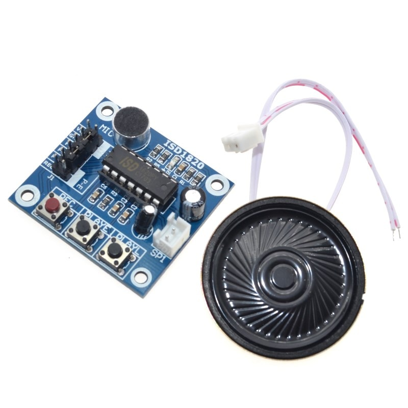ISD1820 Voice Recording Module With Mic Sound Audio Loudspeaker