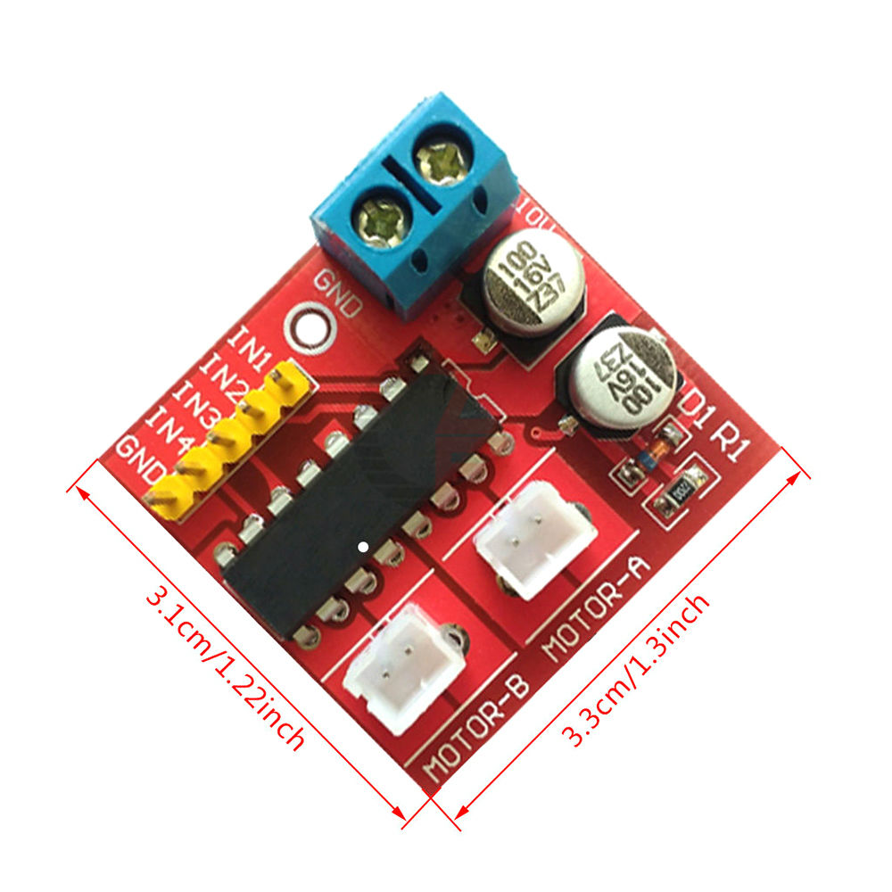 L298N  Dual Channel DC Motor Driver Module 2.5A PWM Speed Control