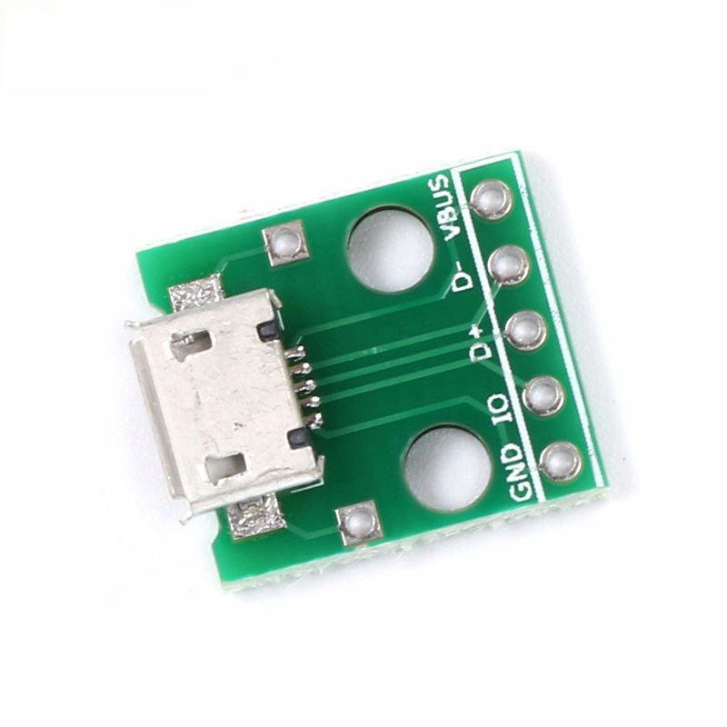 MICRO USB to DIP Adapter 5pin Female Connector B type PCB Converter Pinboard
