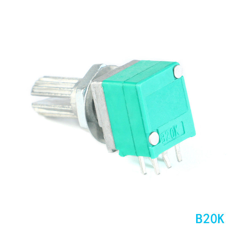 RK097G Audio Amplifier Sealed Dual Potentiometer B5K B10K B20K B50K B100K 15mm 6Pin
