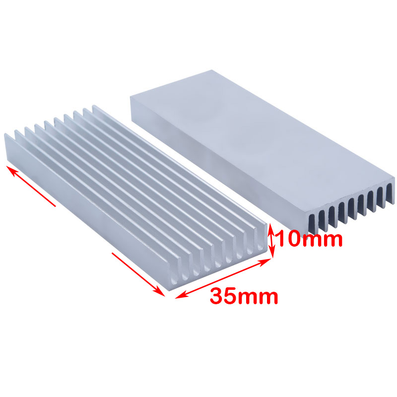 35*10mm Rectangular Aluminum Heatsink Comb Type