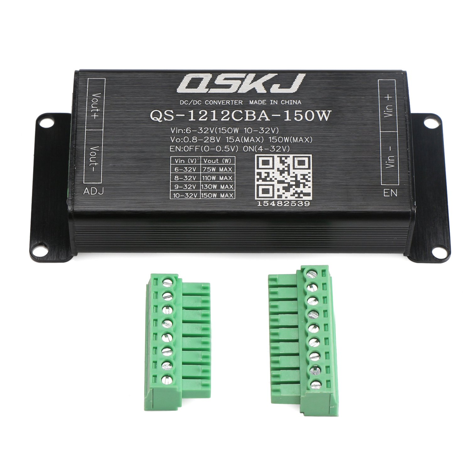 DC-DC 6V-32V TO 0.8-28V 150W 15A Buck-Boost Voltage Regulator QS-1212CBA-150W