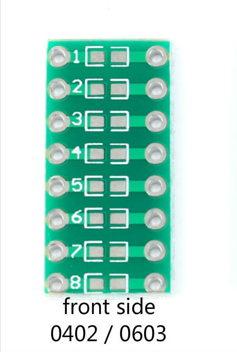 SMD SMT Turn To DIP 0805 0603 0402 Capacitor Resistor LED Pin Board FR4 PCB Board 2.54mm Pitch