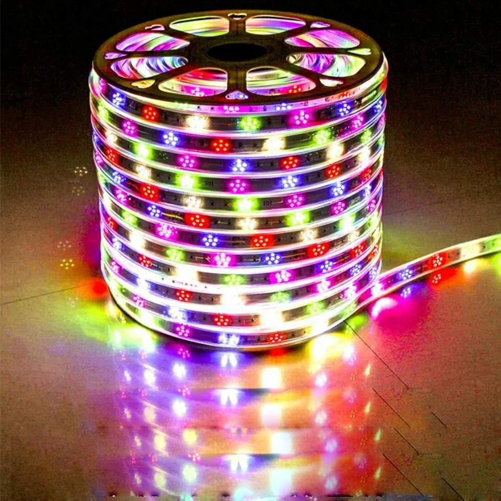 AC 220V 2835 SMD LED Flexible Strip 276LEDs/m Three Row/Plum Blossom Shape Emitting White/Warm White/Blue
