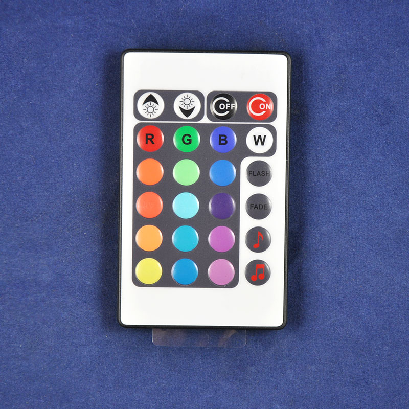DC12/24V 24key IR Remote Control Aluminum Audio Sound Sensitive LED RGB Music Controller