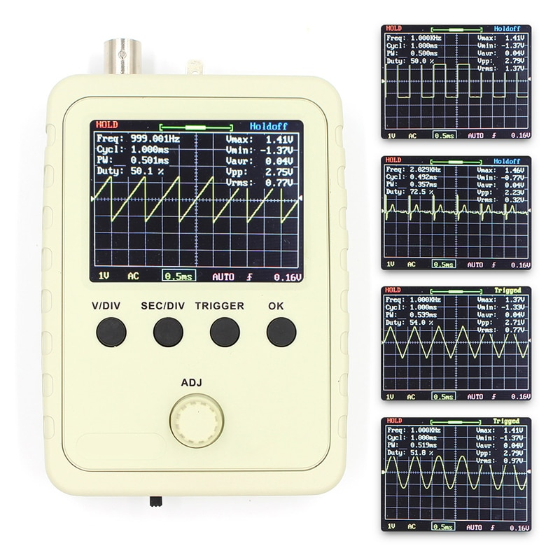 DSO FNIRSI-150 0-200KHz Analog Bandwidth 1MS Sampling Rate Digital Oscilloscope with P6020 Standard Probe