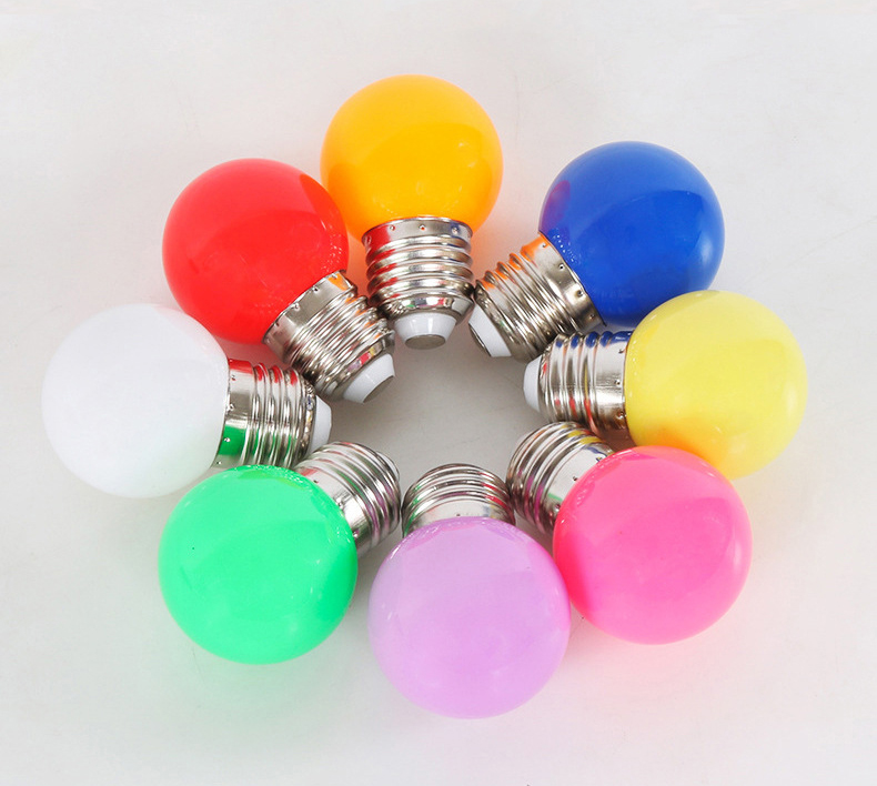 3W E27 Colorful LED Round Bulb Home Light LED Bulb Light