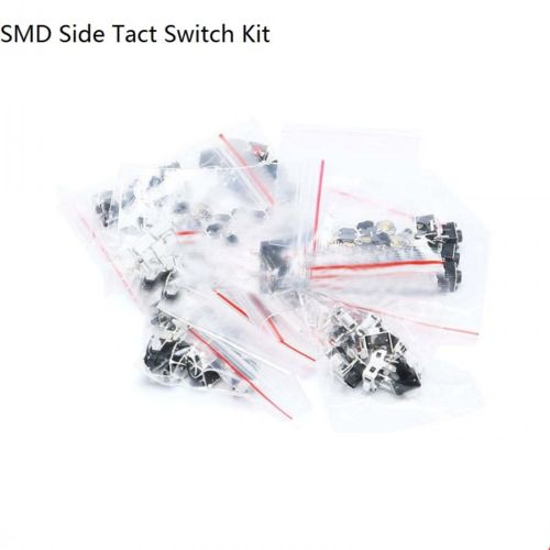 Momentary SMD Side Tact Switch Push Button Switch Assortment Kit 12Values 120pcs