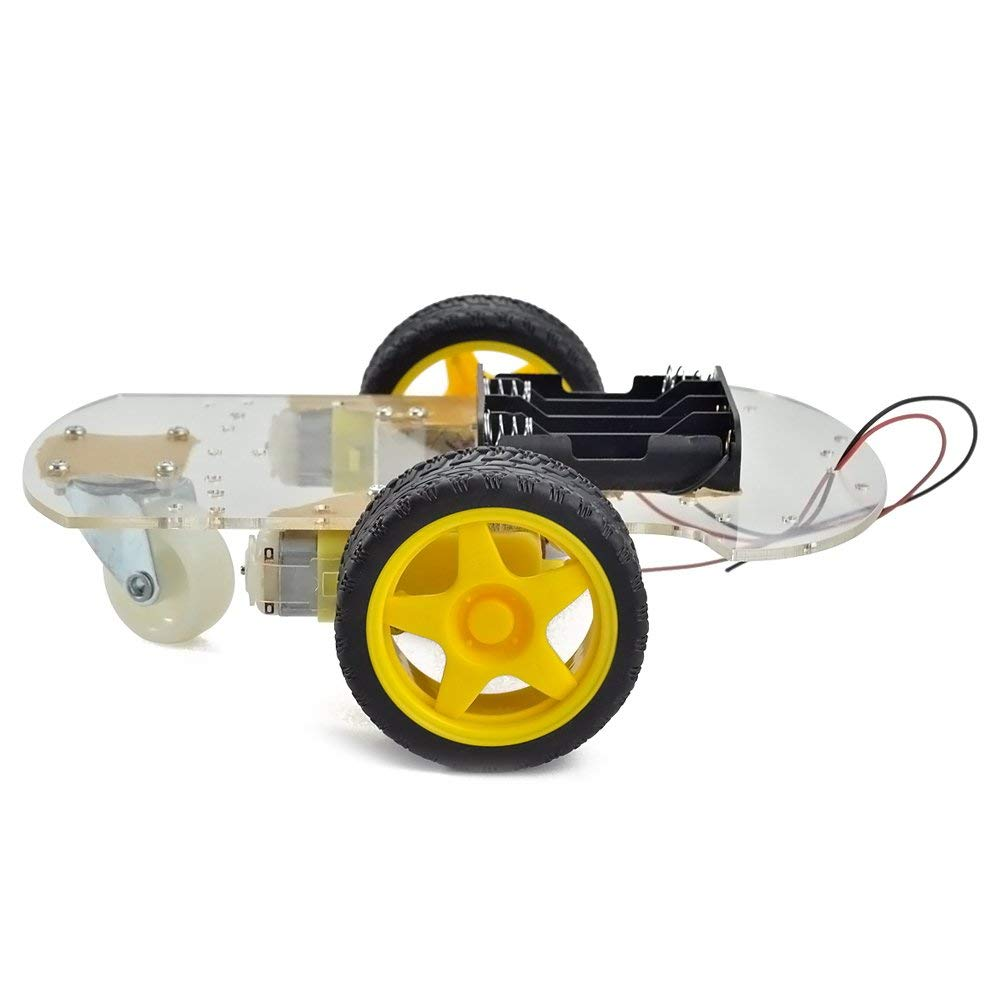 Motor Robot Car Chassis Kit with Speed Encoder wheels and Battery Box