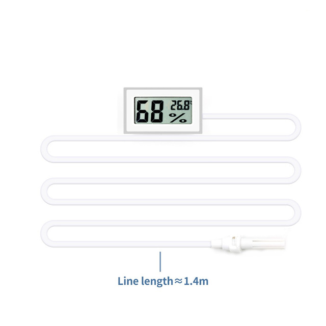 Mini LCD Digital Thermometer Indoor Temperature Humidity Sensor Meter White/Black