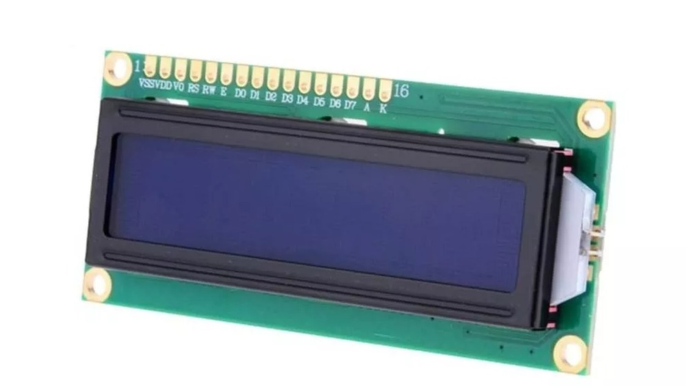 RT162-7 LCD Blue with 16 pin header Soldered