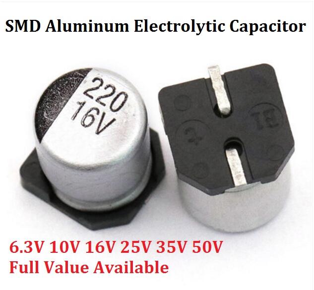 10Pcs 6*7MM 47Uf 50V Smd Aluminum Electrolytic Capacitor ic
