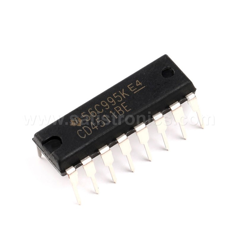 TI CD4511BE CMOS BCD to 7 Segment Latch Decoder IC DIP-16