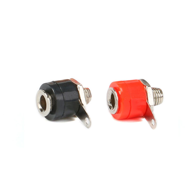 Wiring Terminal Banana Socket Connector 4mm Black/Red