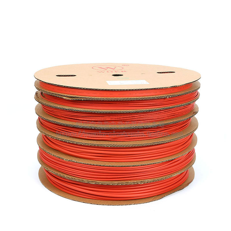 WOER Full Reel Environmental Protection Durable Heat Shrink Tube Assortment Wrap Electrical Insulation Cable Tubing Red White Yellow