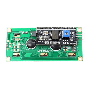 1602 16x2 3V/5V Blue/Yellow-Green LCD Display Module with IIC/I2C Adapter