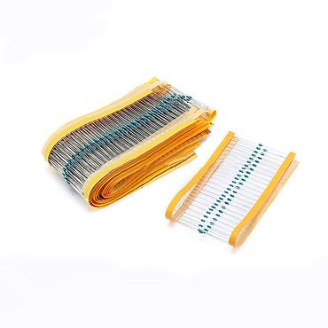 1/6W Metal Film Resistor Kit ±1% Tolerance 1 Ohm to 1M Ohm 30 Values /1500pcs