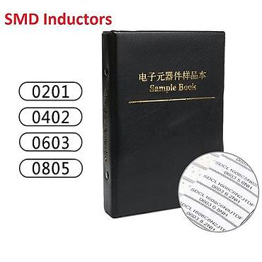 0201/0402/0603/0805 Components Samples Book / SMD/SMT Inductors Assorted Kit