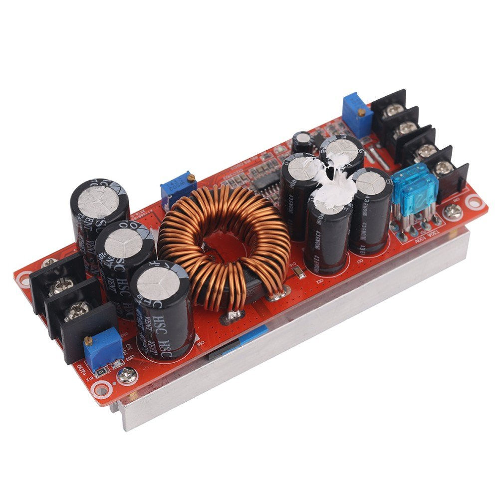 1200W DC-DC Boost Converter Power Supply Module With Large Heat Sink Design