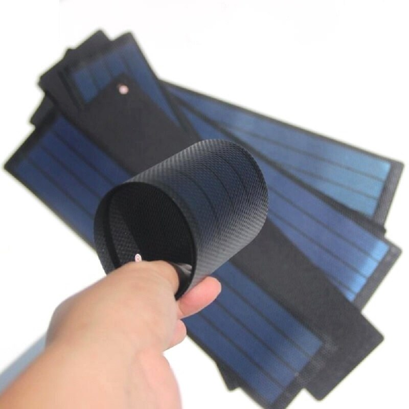 2W 6V Amorphous Silicon Thin Film Flexible Solar Panel