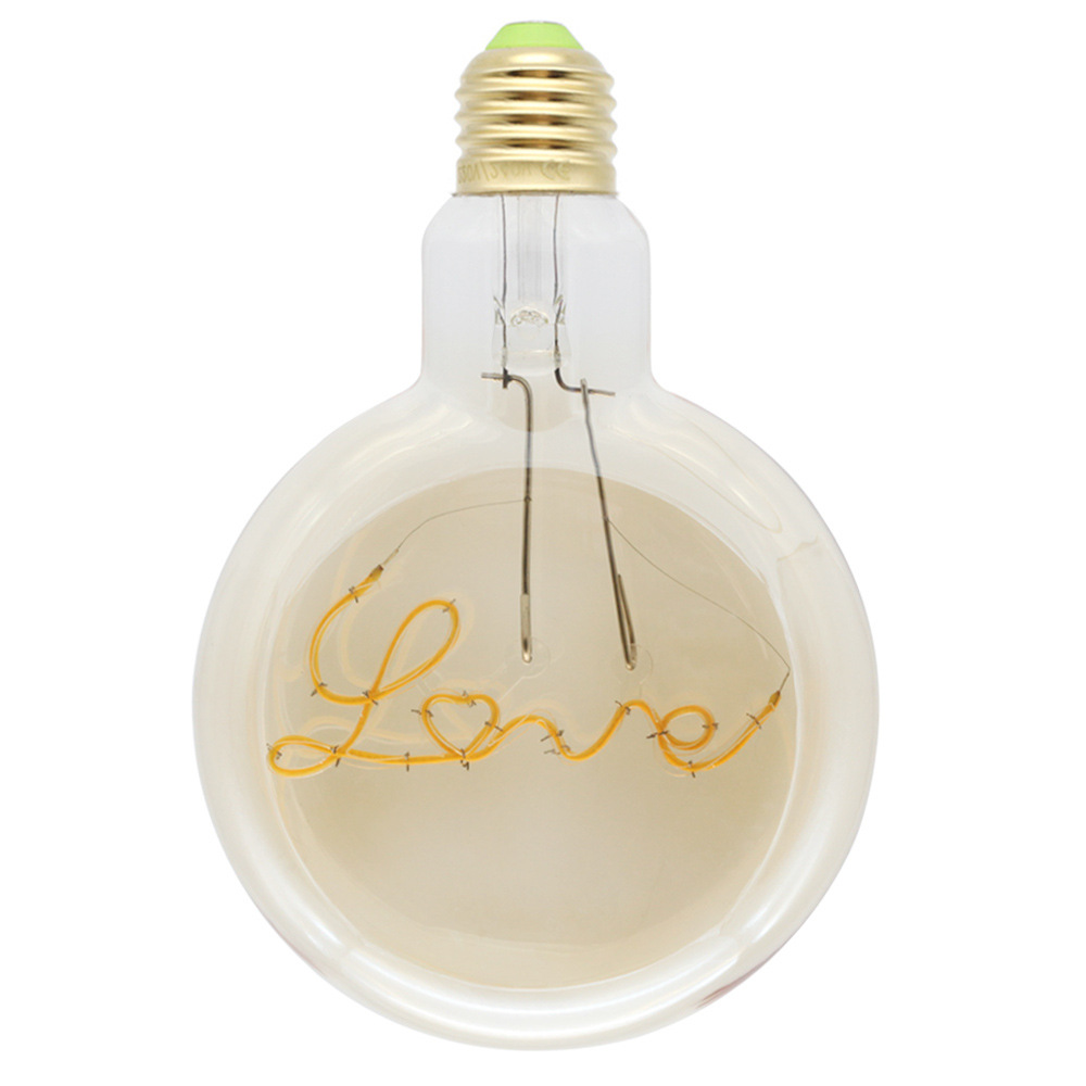 4W E27 RF125 Love LED Edison Bulb AC220V Home Light LED Filament Light Bulb