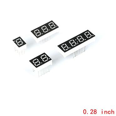 0.28 Inch 1-4bit Digital Tube Red LED Digit Display 7 Segment Common Anode Common Cathode