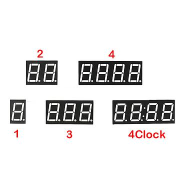 0.56inch 1-4bit Digital Tube Red LED Digit Display 7 Segment