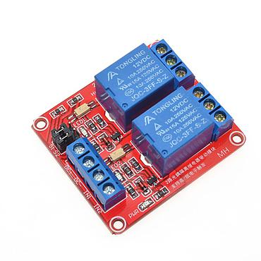 2 Channel Relay Module with Optocoupler Isolation Supports High and Low Trigger 5V 12V 24V