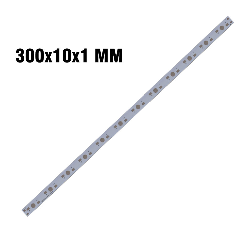 300mm 12LEDs Aluminum Base Plate Strip White PCB Board for Grow Light Tubes