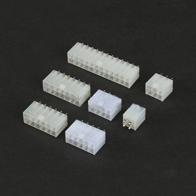 5557 Straight Pins 4.2mm Double Row Female Socket Plug 1P 2P 3P 4P 5P 6P 7P 8P 10P 12P Connector