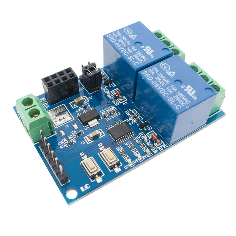 5V ESP8266 ESP-01 2 Channel WiFi Relay Module for IOT Smart Home